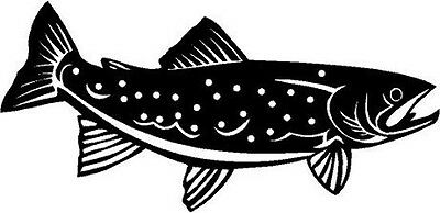 Rainbow Trout Fish Vinyl Decal Car Truck Window Sticker