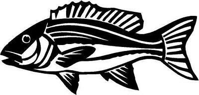 Red Snapper Fish Vinyl Decal Car Truck Window Sticker