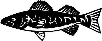 Walleye Fish Vinyl Decal Car Truck Window Sticker