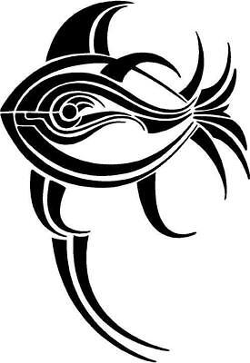 Tribal Fish Vinyl Decal Car Truck RV Signs Trailer Window Sticker 142-20