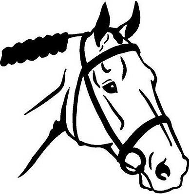 English Horse Head Vinyl Decal Car Truck Window Sticker