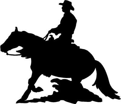 Reining Horse Vinyl Decal Car Truck  Window Sticker