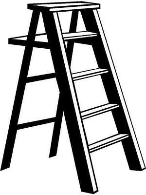 Ladder Vinyl Decal Car Truck Window Sticker