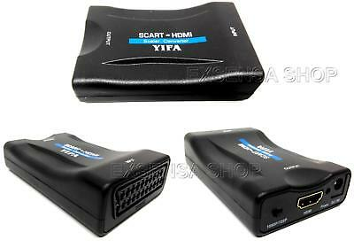 SCART to HDMI Composite Video Convertitore Stereo Audio Adapter 1080P hdscart
