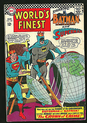 Worlds Finest 165 F Batman Superman Globe Crown