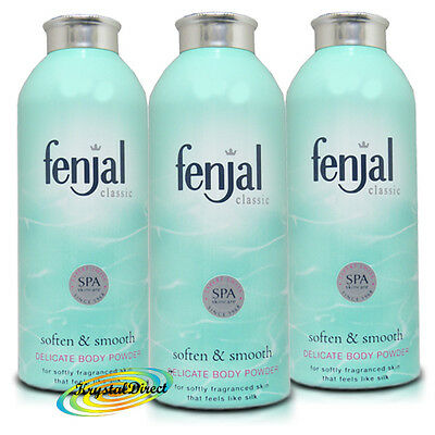 3x Fenjal Body Powder Talc Talcum 100g