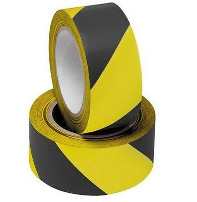 10M Black And Yellow Pvc Roll Self Adhesive Hazard Safety Caution Warning Tape