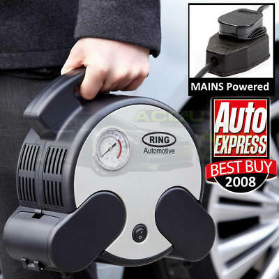 Ring RAC750 230v Home Mains Powered Rapid Car Tyre Air Compressor Inflator Pump