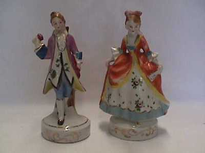 Pair of Occupied Japan Victorian Man & Woman Figures