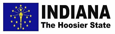 Indiana The Hoosier State Bumper Sticker Magnets