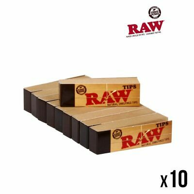 Raw TIPS Lot de 10 Carnets x 50 Filtres en Carton (Tip)