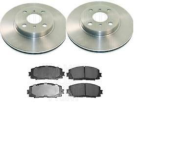 Toyota Yaris SCP12 1.3 VNK 86 Front Brake Discs Pads Set 235mm Vented