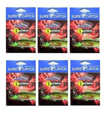 6 Packets of Surecatch Whiting Rigs with Size 8 Chemically Sharpened Hooks