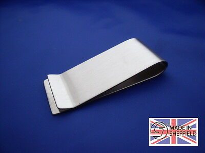 Money Clip / Stainless Steel / Gift / Sheffield Made