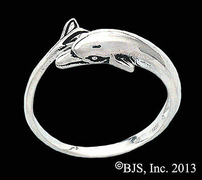 Silver Dolphin Ring, Dolphin Jewelry, Your Size, New, Sterling Silver