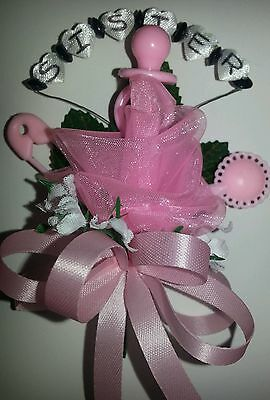Baby shower corsage big sister hello kitty pink or blue