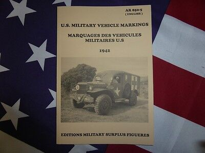 AR 850-5. Marquages véhicules militaires U.S ( Jeep Dodge GMC SCOUT HAKF marking