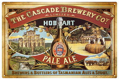 Cascade Brewery Pale Ale  Vintage  Tin Sign