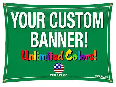 4'x 12' Full Color Custom Banner 13oz Vinyl 4x12
