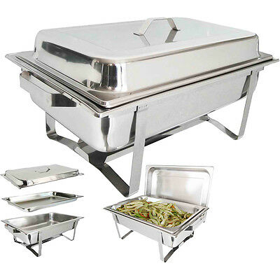 New Stackable Chafing Dish Set Stainless Steel 8.5 L Cookware Single Party
