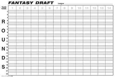 Fantasy Football Draft Board FREE SHIPPING