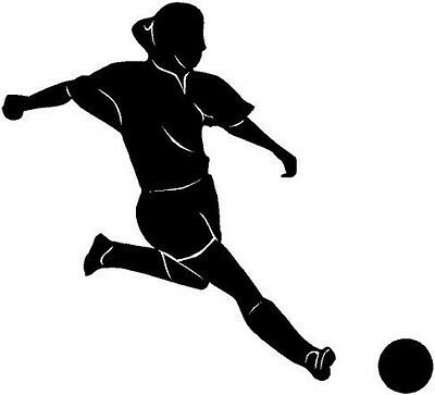 Soccer Kick Vinyl Decal Car Truck Window Sticker