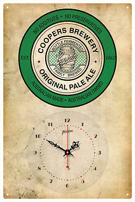 Coopers Brewery Pale Ale Vintage  Tin Sign Clock
