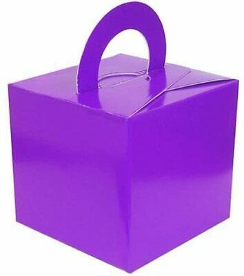 Purple Balloon Weight/Favour/Gift Boxes x 10