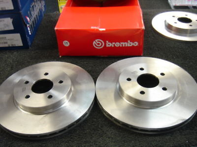Front Vented Brake Discs Ford Mondeo 2.2 TDCi Estate 2004-06 155HP 300mm