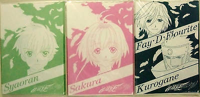 TSUBASA CHRONICLE clear file set of 3 RESERVoir CLAMP
