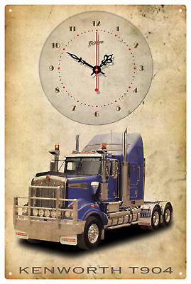 Kenworth Truck T904 Vintage  Tin Sign Clock