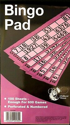 Bingo Pad Book 888 Tickets Jumbo Numbered Raffles Fun Party Pub Bar Games Ss543