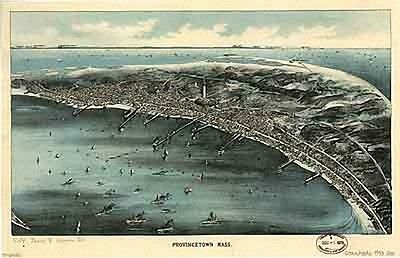 106 Antique Panoramic Maps of Massachusetts MA 2 CD Set