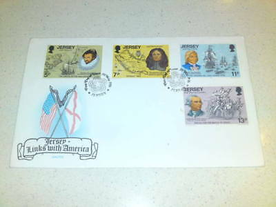 Jersey Links With America Fdc - Unaddressed