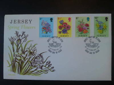Jersey Spring Flowers Fdc