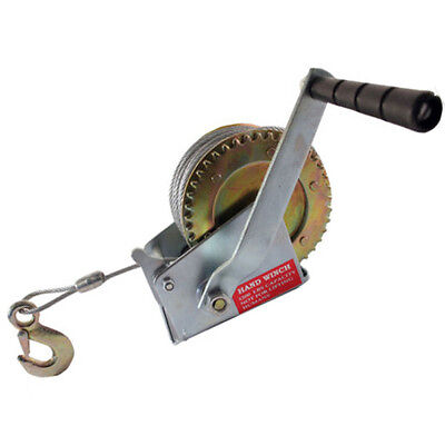 1200Lb Hand Winch Boat Marine Trailer 65Ft Manual With Grip Crank Handle