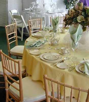 """Polyester Tablecloth 132"""" Round"""