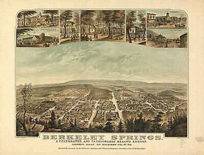 29 Antique Panoramic Maps of West Virginia WV on CD