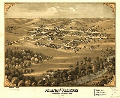 39 Antique Vintage Panoramic Maps of Missouri MO on CD