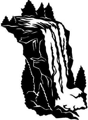 Waterfall Vinyl Decal Sticker Car Truck Boat Window
