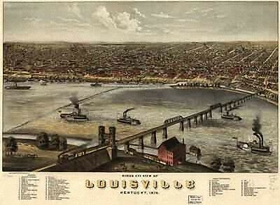 18 Panoramic Maps of Kentucky KY & Tennessee TN on CD