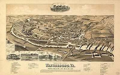21 Antique Vintage Panoramic Maps of Virginia VA on CD