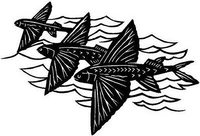 Flying Fish Vinyl Decal Sticker Car Boat  Truck Window