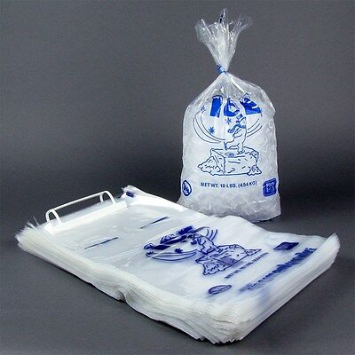 NEW Case of 1,000 8lb Ice Box Company Ice Bags