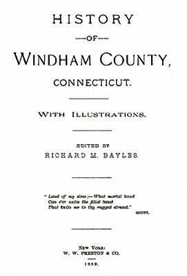 1889 Genealogy & History of Windham Co Connecticut CT