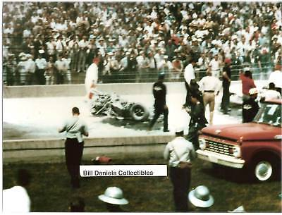 EDDIE SACHS DAVE MacDONALD FATAL FIRE ACCIDENT 1964 INDY 500 8 X 10 PHOTO