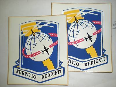 Vintage Usaf Communications Service Stickers -1 Pair
