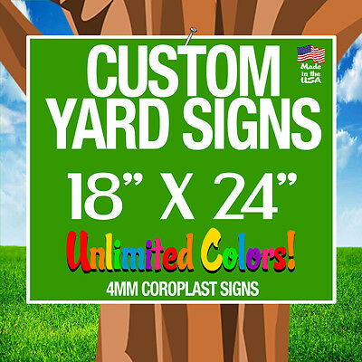 5 18x24 Full Color Yard Signs Custom Double Sided