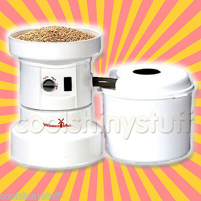 WonderMill Electric Grain Mill Flour Grinder Lifetime Warranty Quiet WhisperMill