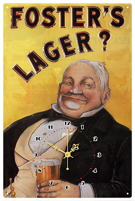 Foster's Lager  Vintage  Tin Sign Clock